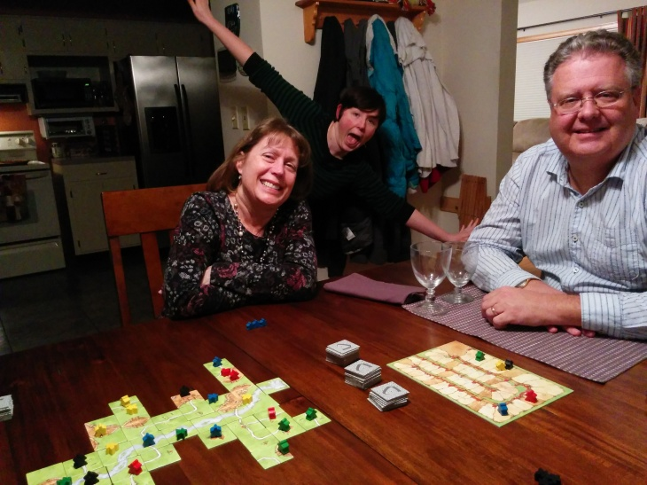 Carcassone was one of the many board games we played.