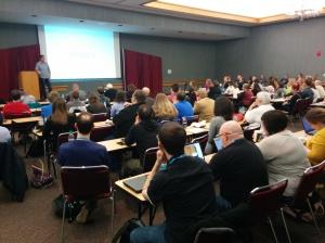 @JJJ giving the keynote at WordCamp Dayton