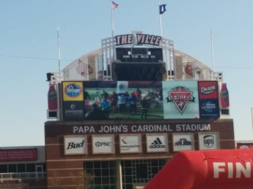 Finishers got to be on PepsiVision at Papa John's Cardinal Stadium