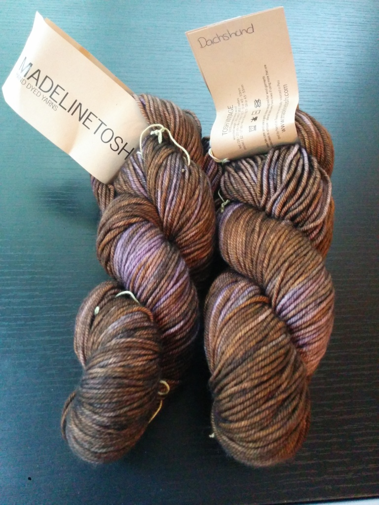 Madeline Tosh Vintage worsted weight yarn in the colorway