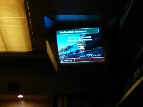 On board the Amtrak Cascades