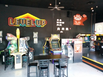 Level Up Arcade pixel artwork