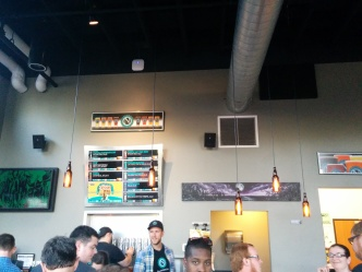 The Ninkasi Tasting Room bar