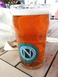 A pint of Ninkasi's Tricerahops Double IPA