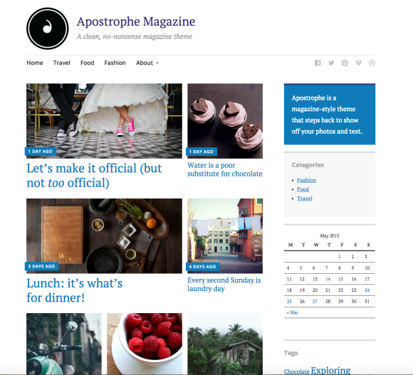 Apostrophe, a new WordPress theme from Automattic