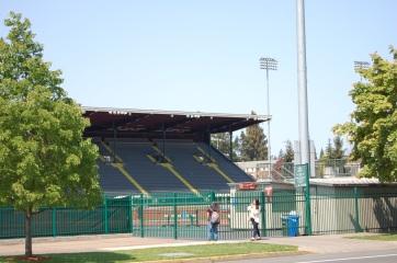 Hayward Field's grandstand