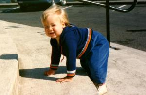 An aunt uploaded this baby photo of me to Facebook. I've decided to handle it.