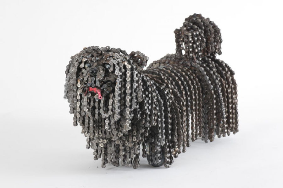 Dog sculpture from Nirit Levav