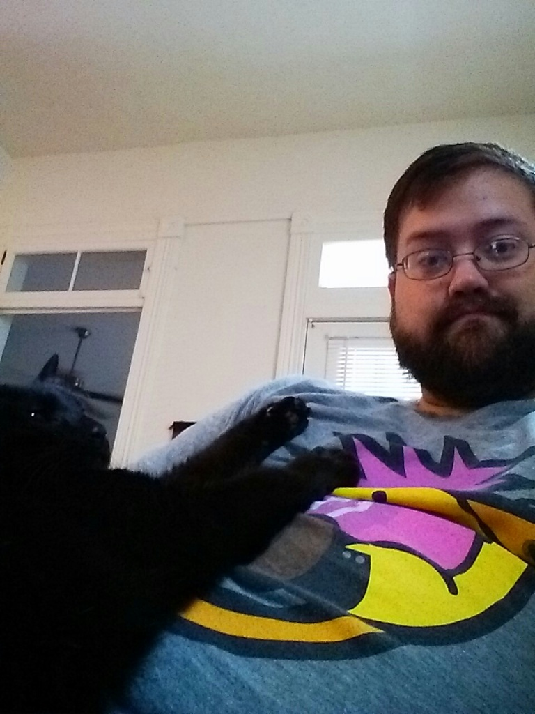 Coffee on the couch with the panther