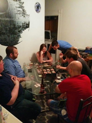 An epic game of Elder Sign by Richard Launius and Kevin Wilson completed the night.
