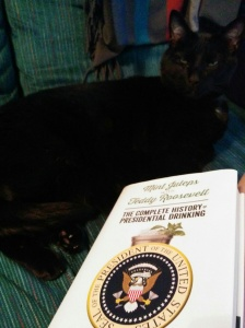 Mint Juleps with Teddy Roosevelt in hardcover with avid reader cat, Bagheera