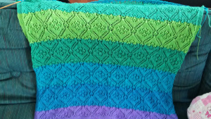 baby blanket knitting lace