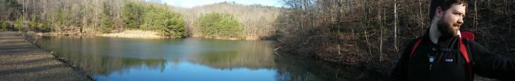 Panorama at Mitchell Hill Lake. Photo by Amber Gustafson.